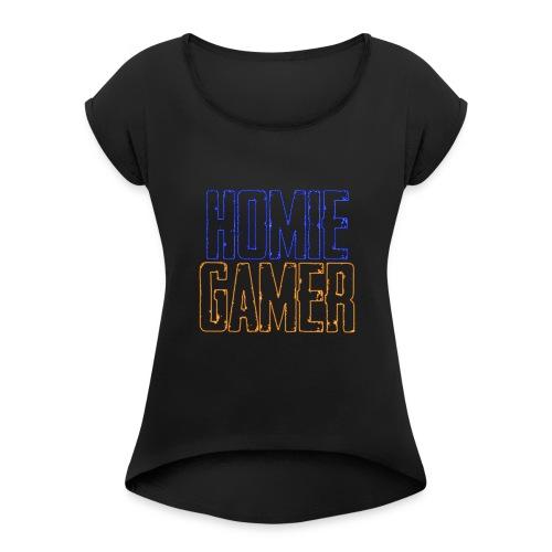 Hømie Gamer Klær (Neon Stil) - T-skjorte med rulleermer for kvinner