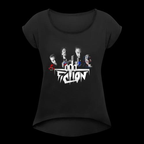 Logo groupe - T-shirt à manches retroussées Femme
