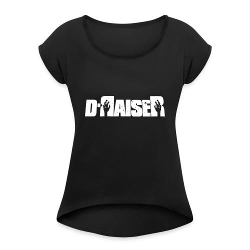 D RAISER LOGO BLANCO - Camiseta con manga enrollada mujer