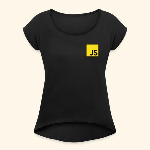 JS Developer T-Shirt - Frauen T-Shirt mit gerollten Ärmeln