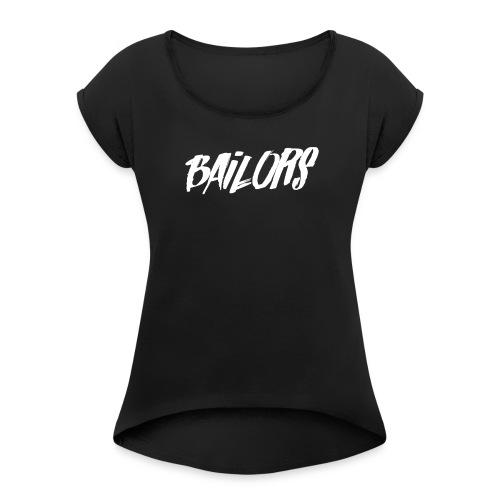 Bailors Painted white - Vrouwen T-shirt met opgerolde mouwen