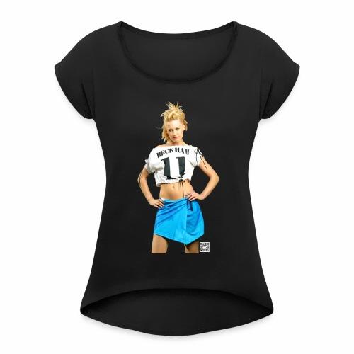 Sports by Alvoni - Frauen T-Shirt mit gerollten Ärmeln