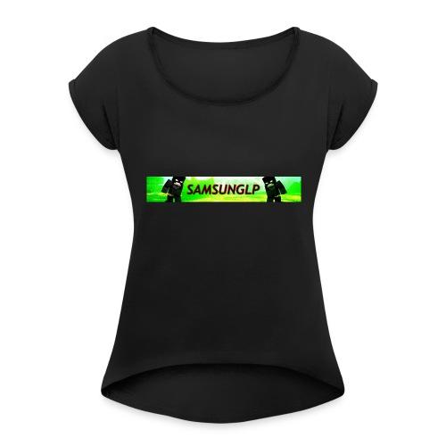 smaunglp213213 - Frauen T-Shirt mit gerollten Ärmeln