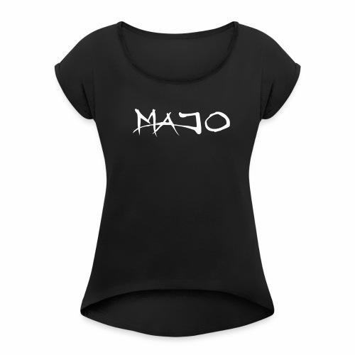 Majo Raw - T-shirt med upprullade ärmar dam
