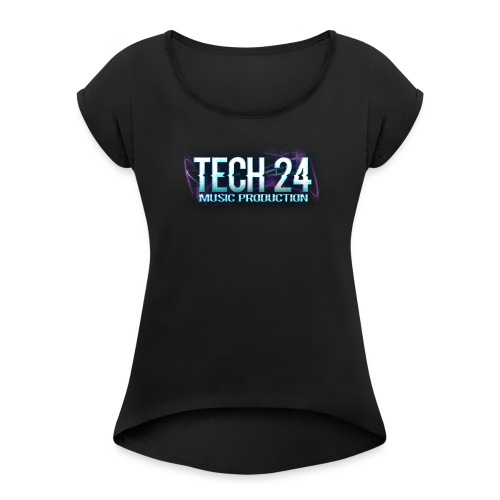 Tech 24 Logo - Women's T-Shirt with rolled up sleeves