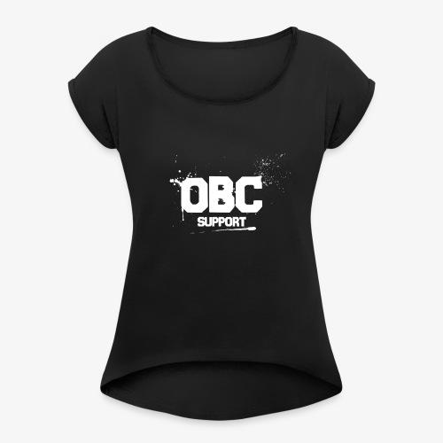 OBCSPP Weiss - Frauen T-Shirt mit gerollten Ärmeln