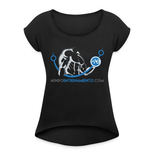 Camiseta de deporte MundoEntrenamiento.com - Camiseta con manga enrollada mujer