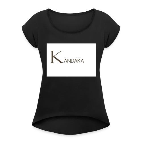 SOYEZ UNE GUERRIERE ET UNE REINE - T-shirt à manches retroussées Femme