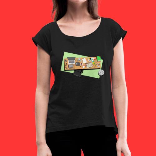 Designers desk - Vrouwen T-shirt met opgerolde mouwen