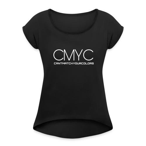 CMYC LABEL - Frauen T-Shirt mit gerollten Ärmeln