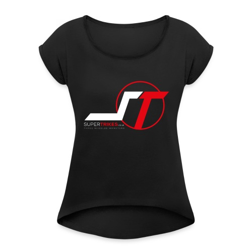 SuperTrikes Logo - Women's T-Shirt with rolled up sleeves