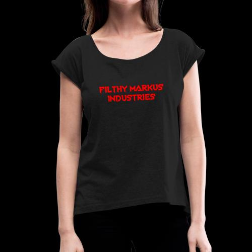 FMI Logo - Women's T-Shirt with rolled up sleeves