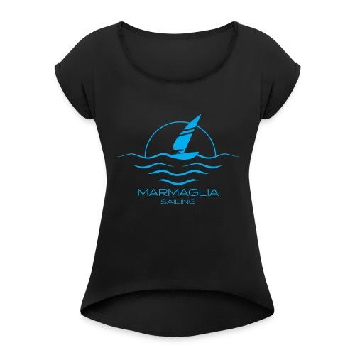 Marmaglia Basic Logo - Maglietta da donna con risvolti