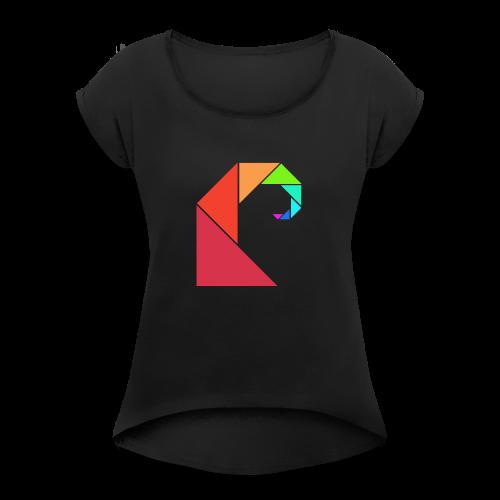 swell rainbow - Vrouwen T-shirt met opgerolde mouwen