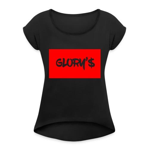 GLORY'S T-SHIRT - Vrouwen T-shirt met opgerolde mouwen