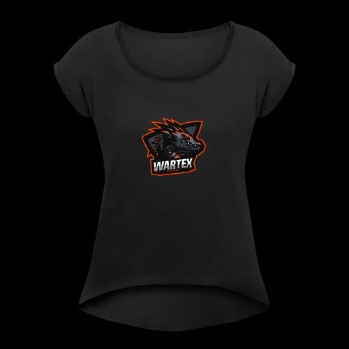 Wartex Logo orange - Frauen T-Shirt mit gerollten Ärmeln