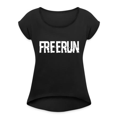 LOGO FREERUN À L'AVANT - T-shirt à manches retroussées Femme