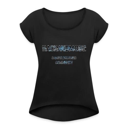HackandModz--Goodies - T-shirt à manches retroussées Femme