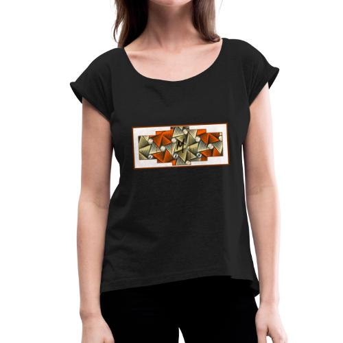 Abstract pattern - Women's T-Shirt with rolled up sleeves