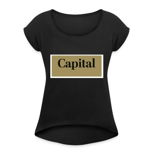 1200px Capital Logo - Frauen T-Shirt mit gerollten Ärmeln