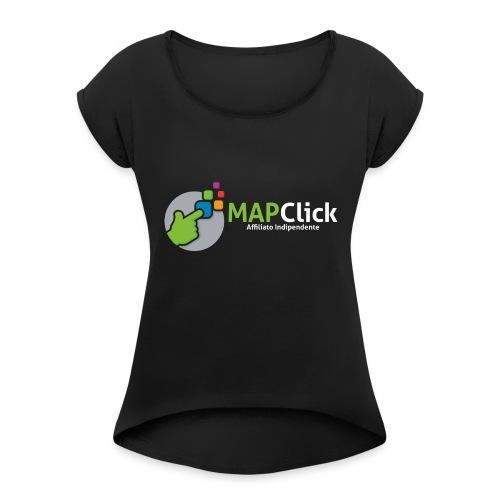 mapclickaffind-png - Maglietta da donna con risvolti