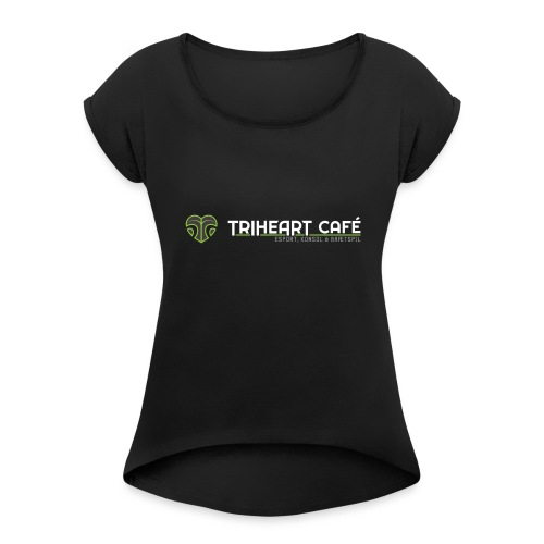 TRIHEART LOGO NEW WHITER - Women's T-Shirt with rolled up sleeves