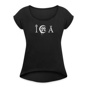 In crucem Agere alternativ Logo - Frauen T-Shirt mit gerollten Ärmeln