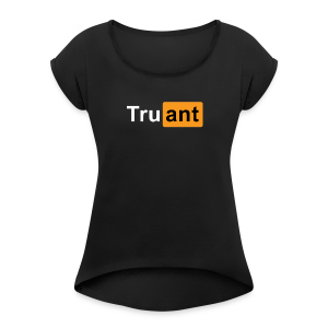 xrated - Women's T-shirt with rolled up sleeves