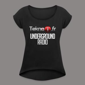 logo tekno1 2000x2000 - T-shirt à manches retroussées Femme
