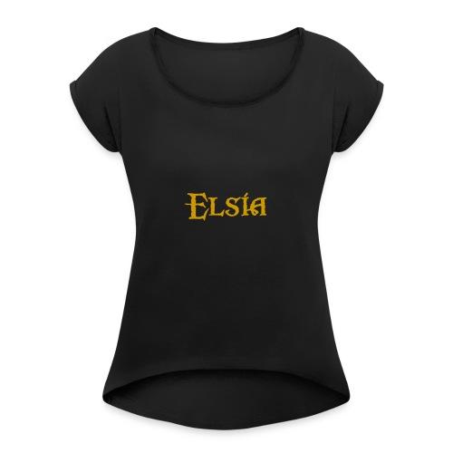 Elsia Logo Classique - T-shirt à manches retroussées Femme