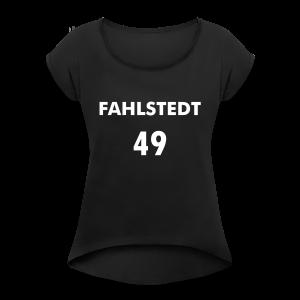 _FAHLSTEDT_49 - T-shirt med upprullade ärmar dam