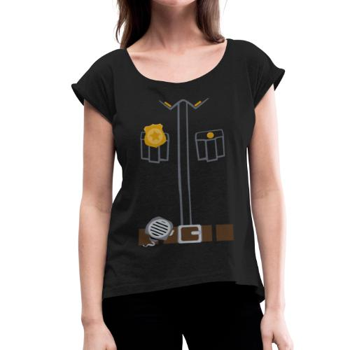 Police Tee Black edition - Women's T-Shirt with rolled up sleeves