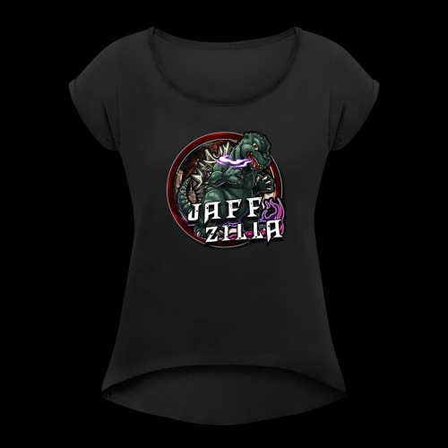 jaff logo - Women's T-shirt with rolled up sleeves