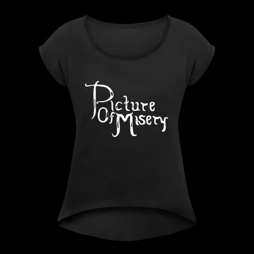 Altes Logo - Frauen T-Shirt mit gerollten Ärmeln