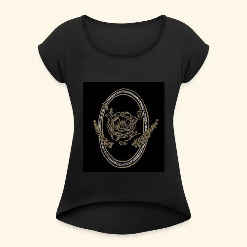 fleur nature - T-shirt à manches retroussées Femme