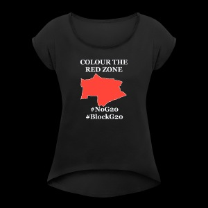 Colour the red Zone - Frauen T-Shirt mit gerollten Ärmeln