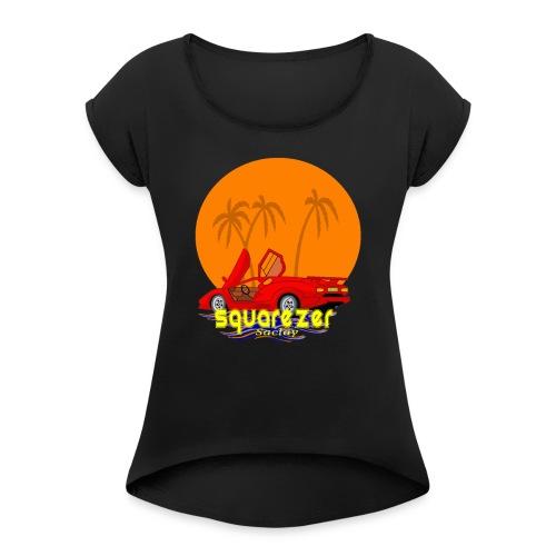 SaclayDrift - T-shirt à manches retroussées Femme