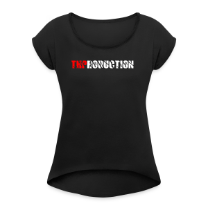 THProduction - Frauen T-Shirt mit gerollten Ärmeln