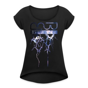 Unisex Hoodie Lightning - Women's T-shirt with rolled up sleeves