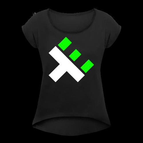 xEnO Logo - xEnO horiZon - Women's T-shirt with rolled up sleeves