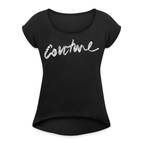Couture Branding - Maglietta da donna con risvolti