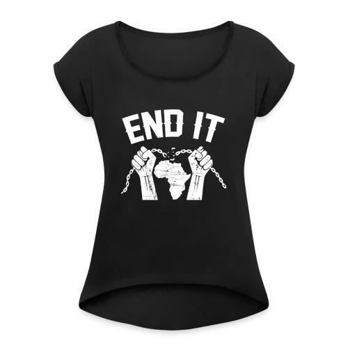 BANTU Edition - Frauen T-Shirt mit gerollten Ärmeln