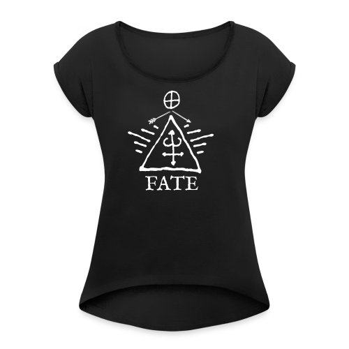 Everything has beauty - Women's T-shirt with rolled up sleeves