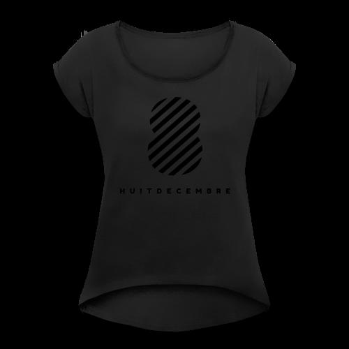 08/12 - T-shirt à manches retroussées Femme