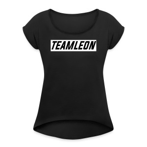 TEAM LEON T-SHIRT BLACK - Women's T-shirt with rolled up sleeves