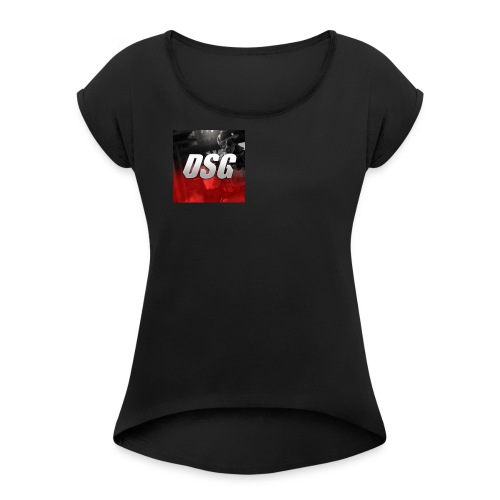 DSG logo - Women's T-shirt with rolled up sleeves