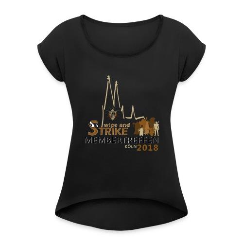 WaS-Membertreffen 2018 - Frauen T-Shirt mit gerollten Ärmeln