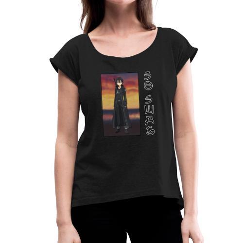 Kiriswag - T-shirt à manches retroussées Femme