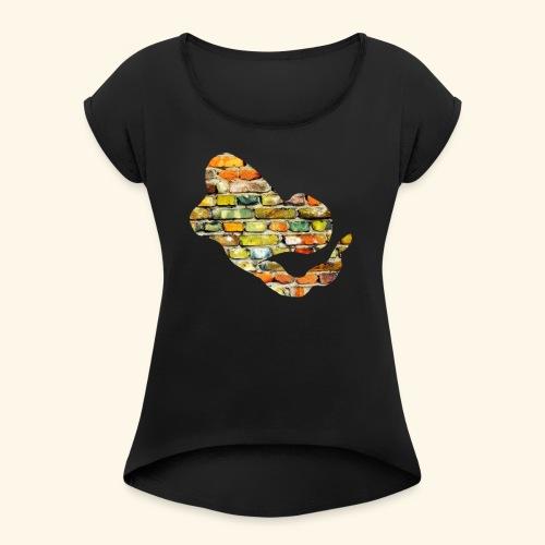 Stone T Shirt G - Frauen T-Shirt mit gerollten Ärmeln