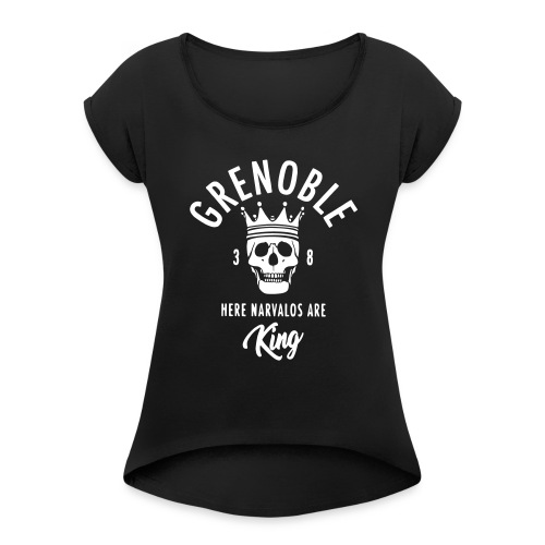 grenoble narvalo - T-shirt à manches retroussées Femme